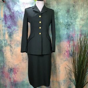 👉 NWT Garrison Collection Military Skirt Suit